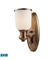 Picture for category Wall Sconces 1 Light LED With Antique Copper Finish 5 inch 13.5 Watts - World of Lamp