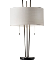 Picture for category Adesso 4072-22 Table Lamps Brushed Steel and Black Marble Metal Marble Anderson