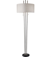 Picture for category Adesso 4073-22 Floor Lamps Brushed Steel and Black Marble Metal Marble Anderson