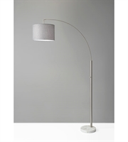 Picture for category Adesso 4249-22 Floor Lamps Brushed Steel Bowery