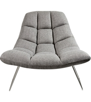 Picture for category Adesso GR2004-03 Chairs Light Grey Soft Textured Fabric Steel Bartlett