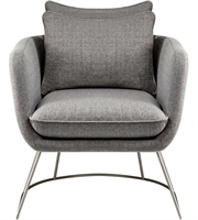 Picture for category Adesso GR2005-03 Chairs Light Grey Soft Textured Fabric Steel Stanley