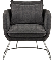 Picture for category Adesso GR2005-10 Chairs Dark Grey Soft Textured Fabric Steel Stanley