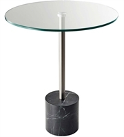 Picture for category Adesso HX5282-01 Tables Steel and Black Marble Marble 64.5% Metal 2.4% Glass 33.1% Blythe