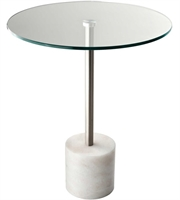Picture for category Adesso HX5282-02 Tables Steel and White Marble Marble 64.5% Metal 2.4% Glass 33.1% Blythe