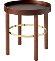 Picture for category Adesso WK2502-15 Tables Walnut Rubberwood Veneer and Shiny Gold Rubberwood MDF Plywood Montgomery