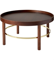 Picture for category Adesso WK2503-15 Tables Walnut Rubberwood Veneer and Shiny Gold Rubberwood MDF Plywood Montgomery