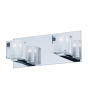 Picture for category ET2 Lighting E32032-18PC Wall Sconces Polished Chrome Steel Blocs LED