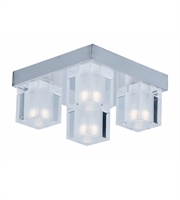 Picture for category ET2 Lighting E32038-18PC Flush Mounts Polished Chrome Glass and Steel Blocs LED