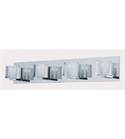 Picture for category ET2 Lighting E32170-18PC Bath Lighting Polished Chrome Glass and Steel Blocs LED