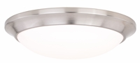 Picture for category Vaxcel Lighting C0124 Flush Mounts Satin Nickel Plastic Leo