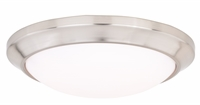 Picture for category Vaxcel Lighting C0126 Flush Mounts Satin Nickel Plastic Leo