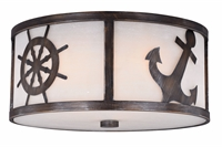 Picture for category Vaxcel Lighting C0138 Flush Mounts Sterling Bronze Steel Nautique