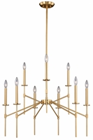 Picture for category Vaxcel Lighting H0180 Chandeliers Natural Brass Steel Kedzie