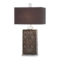 Picture for category Uttermost 27578-1 Desk Lamps Steel ceramic crystal fabric Olavo