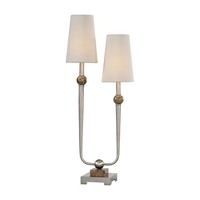 Picture for category Uttermost 29376-1 Desk Lamps Steel Marble Fabric Claret
