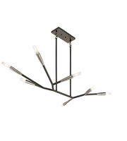 Picture for category Kichler Lighting 43795BK Chandeliers Black Steel Branches