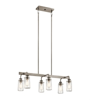 Picture for category Kichler Lighting 43059CLP Island Lighting Classic Pewter Steel Braelyn