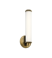 Picture for category Kichler Lighting 45686NBRLED Wall Sconces Natural Brass Aluminum Indeco