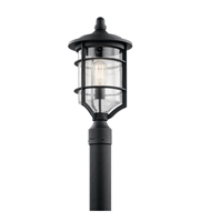 Picture for category Kichler Lighting 49129DBK Outdoor Post Light Distressed Black Aluminum Royal Marine