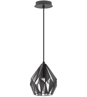 Picture for category Eglo Lighting 202035A Pendants Matte Black and Siler Iron Carlton III