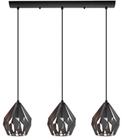 Picture for category Eglo Lighting 202036A Island Lighting Matte Black and Copper Iron Carlton III