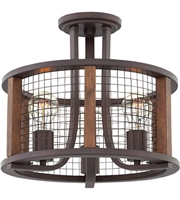Picture for category Hinkley Lighting 4823IR Semi Flush Iron Rust Steel Beckett