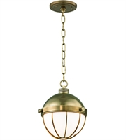 Picture for category Hudson Valley Lighting 2309-AGB Pendants Aged Brass Metal / Glass Sumner