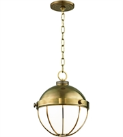 Picture for category Hudson Valley Lighting 2312-AGB Pendants Aged Brass Metal / Glass Sumner