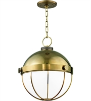 Picture for category Hudson Valley Lighting 2315-AGB Pendants Aged Brass Metal / Glass Sumner