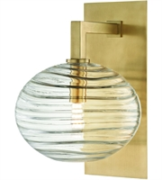 Picture for category Hudson Valley Lighting 2400-AGB Wall Sconces Aged Brass Metal / Hand-blown Glass Breton