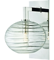 Picture for category Hudson Valley Lighting 2400-PN Wall Sconces Polished Nickel Metal / Hand-blown Glass Breton