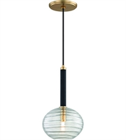 Picture for category Hudson Valley Lighting 2410-AGB Pendants Aged Brass Metal / Hand-blown Glass Breton