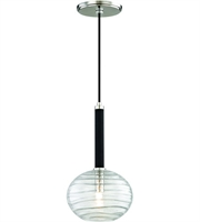 Picture for category Hudson Valley Lighting 2410-PN Pendants Polished Nickel Metal / Hand-blown Glass Breton