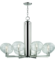 Picture for category Hudson Valley Lighting 2418-PN Chandeliers Polished Nickel Metal / Hand-blown Glass Breton