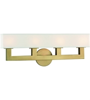 Picture for category Hudson Valley Lighting 5454-AGB Wall Sconces Aged Brass Cast Metal / Linen Clarke