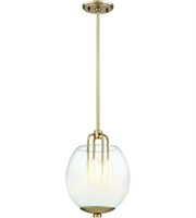 Picture for category Hudson Valley Lighting 5709-AGB Pendants Aged Brass Metal / Glass Sawyer