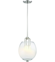 Picture for category Hudson Valley Lighting 5709-PN Pendants Polished Nickel Metal / Glass Sawyer