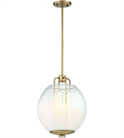 Picture for category Hudson Valley Lighting 5712-AGB Pendants Aged Brass Metal / Glass Sawyer