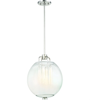 Picture for category Hudson Valley Lighting 5712-PN Pendants Polished Nickel Metal / Glass Sawyer