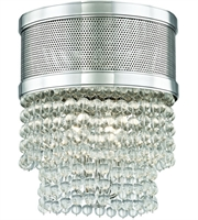 Picture for category Hudson Valley Lighting 7704F-PN Flush Mounts Polished Nickel Metal / Crystal Harrison