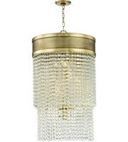 Picture for category Hudson Valley Lighting 7722-AGB Pendants Aged Brass Metal / Crystal Harrison