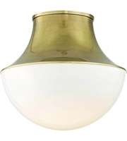 Picture for category Hudson Valley Lighting 9415-AGB Flush Mounts Aged Brass Spun Metal / Glass Lettie