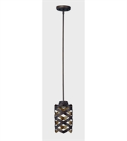 Picture for category Maxim Lighting 35059BZGTGLD Mini Pendants Bronze Gilt and Gold Metal Weae