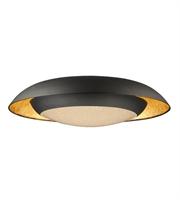 Picture for category Maxim Lighting 35074CYGLBK Flush Mounts Gold Leaf and Black Metal Iris