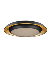 Picture for category Maxim Lighting 35078CYGLBK Flush Mounts Gold Leaf and Black Metal Iris