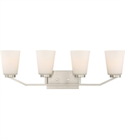 Picture for category Nuvo Lighting 60/6244 Bath Lighting Brushed Nickel Steel Nome