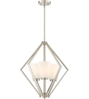 Picture for category Nuvo Lighting 60/6245 Pendants Brushed Nickel Steel Nome