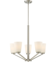 Picture for category Nuvo Lighting 60/6246 Chandeliers Brushed Nickel Steel Nome