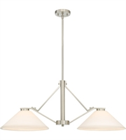 Picture for category Nuvo Lighting 60/6248 Island Lighting Brushed Nickel Steel Nome